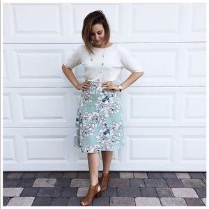 Ann Taylor factory midi skirt
